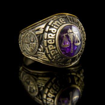 Férfi arany pecsétgyűrű ametiszt kővel
