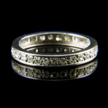 Fehérarany Memory gyűrű achtkant csiszolású gyémántokkal (0.30 ct)