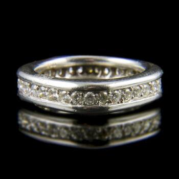 Fehérarany Memory gyűrű briliáns csiszolású gyémánt kövekkel