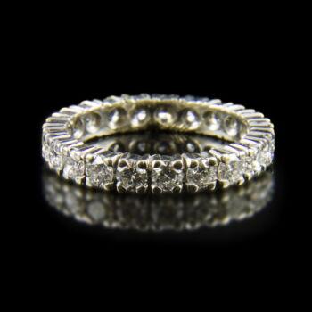 Fehérarany Sport-gyűrű 21db gyémánt kővel