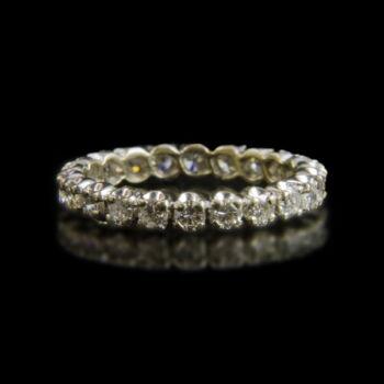 Fehérarany Sport-gyűrű 22db gyémánt kővel