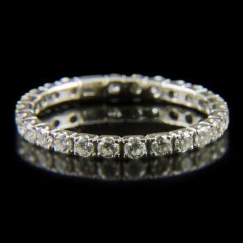 Fehérarany Sport-gyűrű gyémántokkal