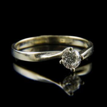 Fehérarany eljegyzési gyűrű briliáns csiszolású gyémánt kővel (0.25 ct)