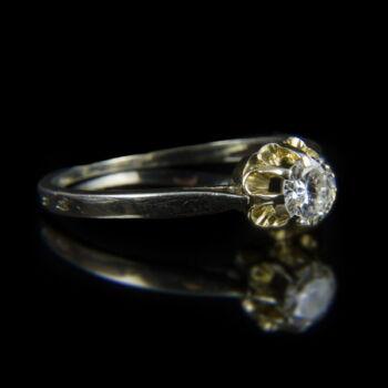 Fehérarany eljegyzési gyűrű gyémánt kővel (0.40 ct)