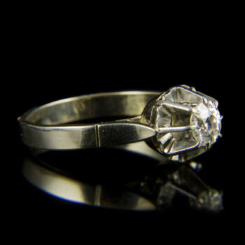 Fehérarany eljegyzési gyűrű gyémánt kővel (0.55 ct)