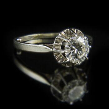 Gyémánt köves eljegyzési gyűrű (1 ct)