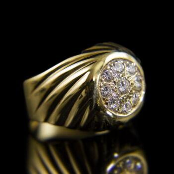Gyémánt köves férfi arany gyűrű