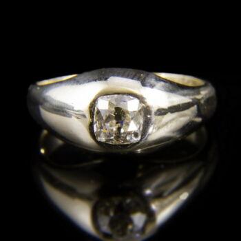 Gyémántköves férfi kisujj gyűrű