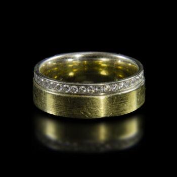 Arany karikagyűrű gyémántokkal