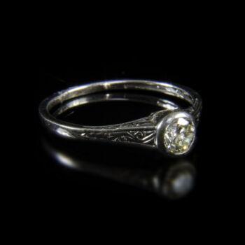 Szoliter fazonú női gyémántgyűrű  (0.40 ct)