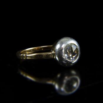 Szoliter gyűrű bouton foglalatban gyémánt kővel (1 ct)