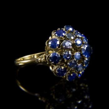 Zafírköves női gyűrű