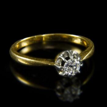 Francia briliáns női gyűrű
