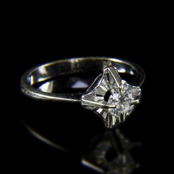 Francia szoliter briliáns női gyűrű
