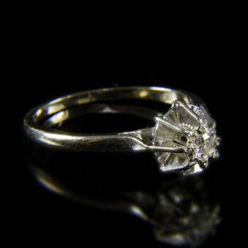 Francia szoliter fazonú briliáns női gyűrű