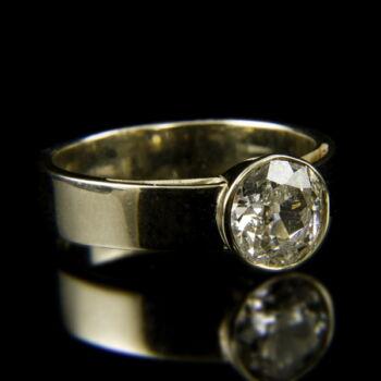 14 karátos fehérarany szoliter gyűrű briliáns csiszolású gyémánt kővel (1.23 ct)