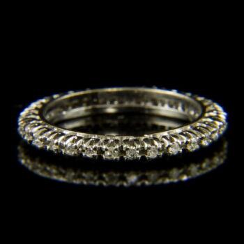 Fehérarany Sport gyűrű achtkant csiszolású gyémánt kövekkel