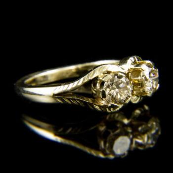 Toi et Moi stílusú gyémánt köves arany gyűrű