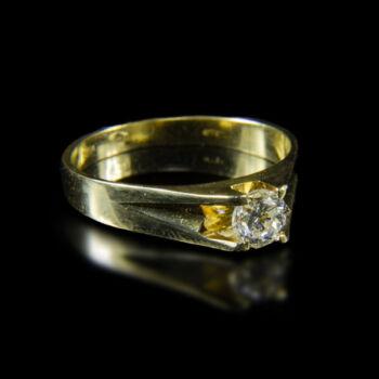 Szoliter gyűrű briliáns csiszolású gyémánt kővel (0.45ct)