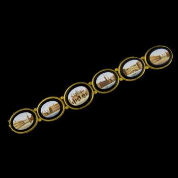 Ónix köves arany karkötő mikromozaik díszítéssel