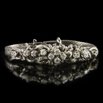 Gyémánt köves ezüst karlánc