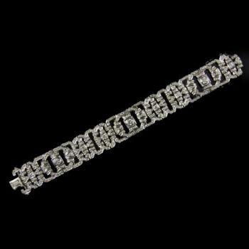 Gyémánt köves fehérarany karkötő