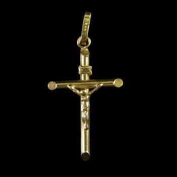 14 karátos arany feszület medál