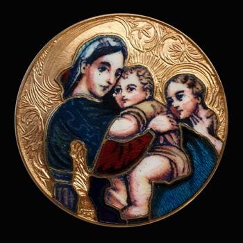 Mária medál zománcozott ezüst érme