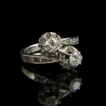 Női gyémánt köves fehérarany gyűrű