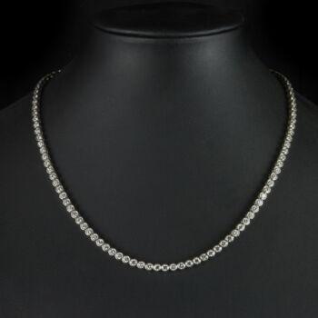 Fehérarany Tenisz nyaklánc gyémánt kövekkel