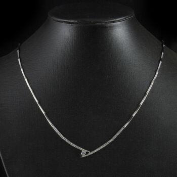 Gyémánt köves fehérarany nyakék