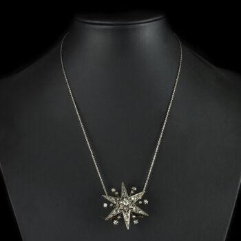 Nyaklánc gyémánt köves csillag alakú bross medállal