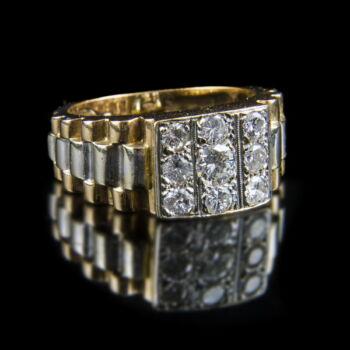Rolex típusú férfi arany gyémánt gyűrű