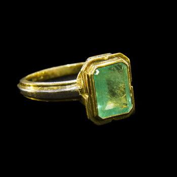Smaragd köves gyűrű