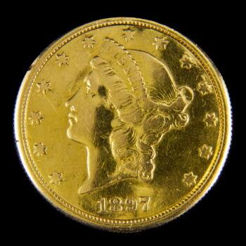 Érmeóra 20 dolláros érmében