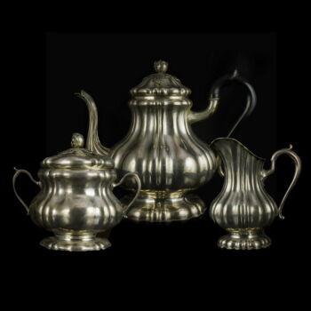 3 db-os pesti ezüst teás készlet