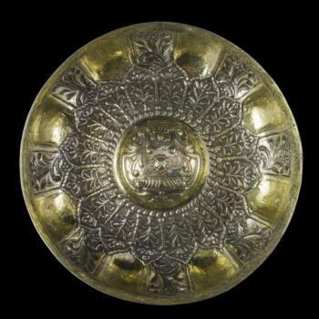 Aranyozott ezüst Hamam tál