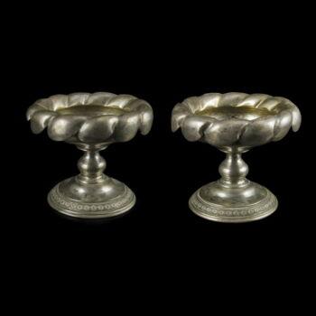 Bécsi antik ezüst fűszertartó pár