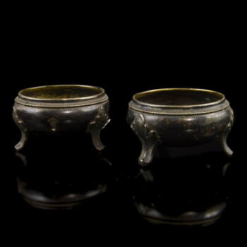 Bécsi ezüst fűszertartó pár