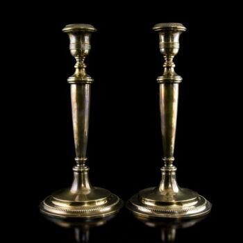 Spanyol ezüst gyertyatartó pár Pedro Durán