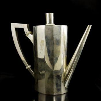 Art deco ezüst kávéskanna