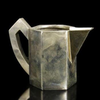 Art deco ezüst tejszínkiöntő