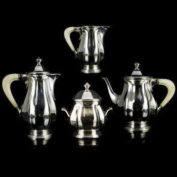 Francia ezüst teáskészlet  4 darabos