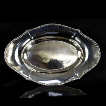 Pesti ezüst kínáló kosár