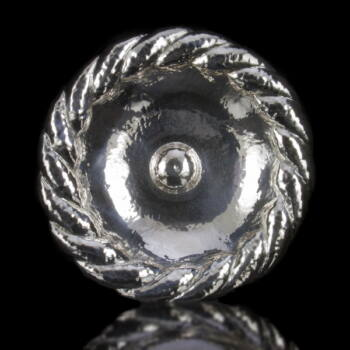 Pesti kerek trébelt ezüst kínálótál