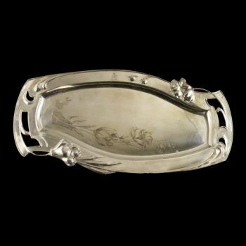 Pesti szecessziós ezüst tálca