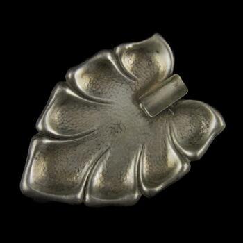 Levél alakú ezüst hamutartó tálka