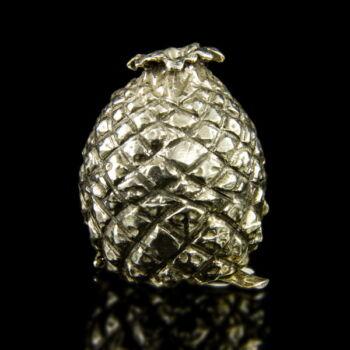 Ananász forma pici ezüst szelence