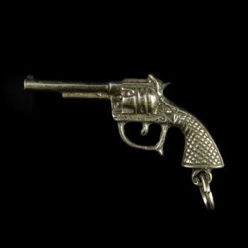 Ezüst mini revolver