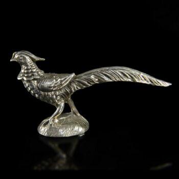 Mini ezüst fácán figura